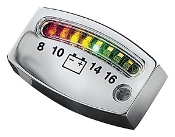 Kuryaykn L.E.D. Battery Gauge, Chrome