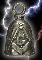 Masonic Pewter Gremlin Bell, made by Guardian