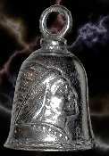 Indian Head Pewter Gremlin Bell, made by Guardian