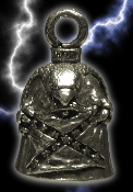 Rebel Flag Pewter Gremlin Bell, made by Guardian