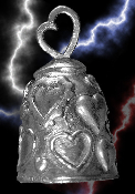 Hearts Pewter Gremlin Bell, made by Guardian
