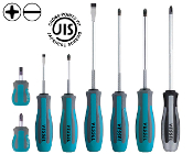 Vessel J.I.S. Motorcycle repair screwdriver 8 piece set.