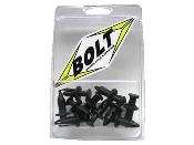 Bolt brand, 6mm nylon reusable, three stage push pin, rivets.