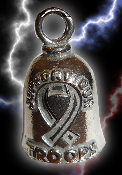 Support Our Troops Pewter Gremlin Bell, made by Guardian