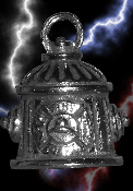 Fire Plug Pewter Gremlin Bell, made by Guardian