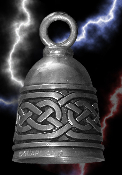 Celtic Bell Pewter Gremlin Bell, made by Guardian