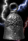 Celtic Cross Pewter Gremlin Bell, made by Guardian