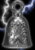 Fleur De Lis Pewter Gremlin Bell, made by Guardian