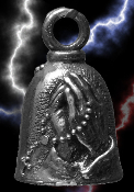 Praying Hands Pewter Gremlin Bell, made by Guardian