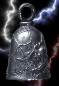 Black Widow Pewter Gremlin Bell, made by Guardian